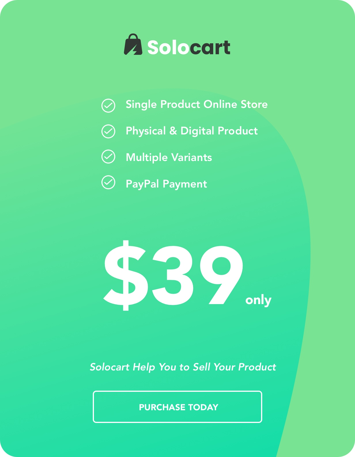 Solocart - Single Product (Physical & Digital) Ecommerce Online Store Web App - 1